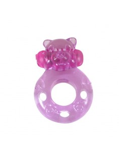Anillo Vibrador Bear Rosa